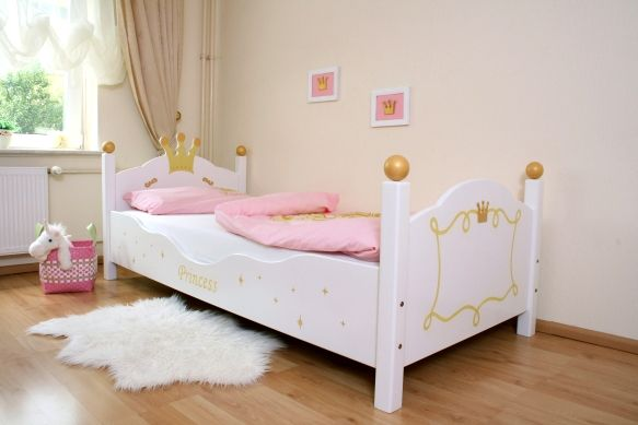 lit fille princesse blanc. Black Bedroom Furniture Sets. Home Design Ideas