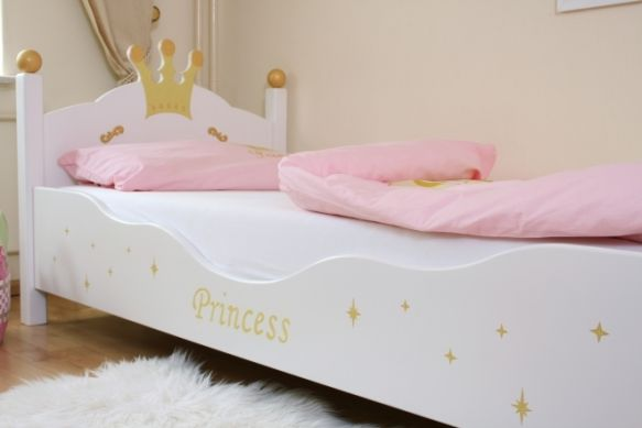lit enfant princesse blanc. Black Bedroom Furniture Sets. Home Design Ideas