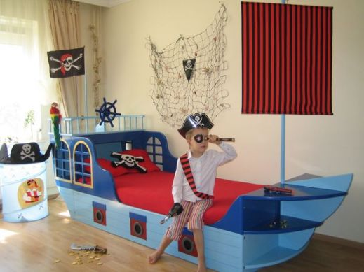 Lit de pirate - Piratenbett kinderzimmer ...