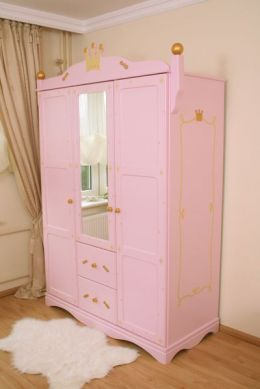 armoire 3 portes princesse rose. Black Bedroom Furniture Sets. Home Design Ideas