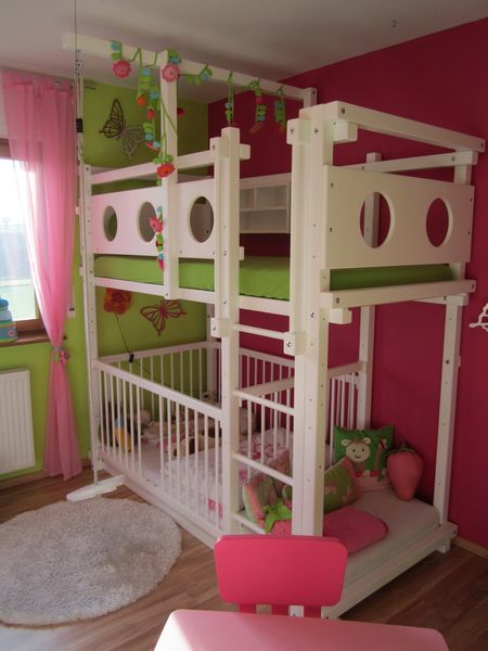 Lit etage avec lit b b - Lit superpose avec lit bebe ...