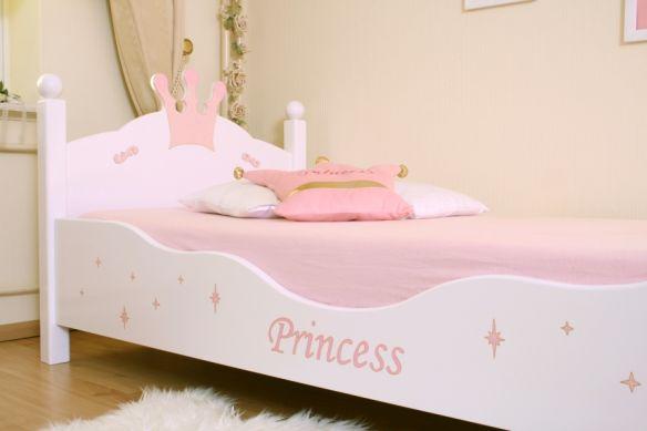 lit enfant princesse blanc rose. Black Bedroom Furniture Sets. Home Design Ideas