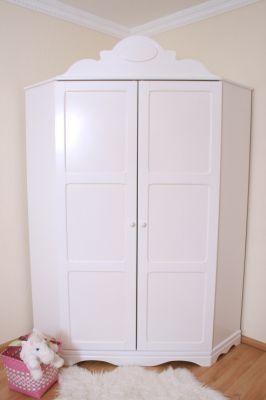 Armoire d 39 angle en blanc - Armoire d angle blanche ...