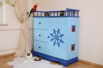 Commode Enfant Pirate Bleue XL