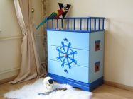Commode Pirate Bleue
